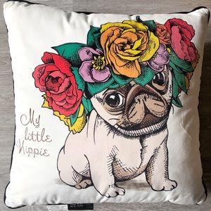 Nicole Miller Pug Pillow